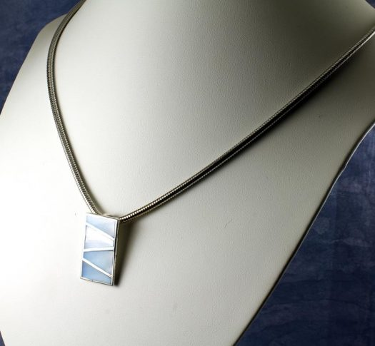 Pale Blue Mother of Pearl Pendant