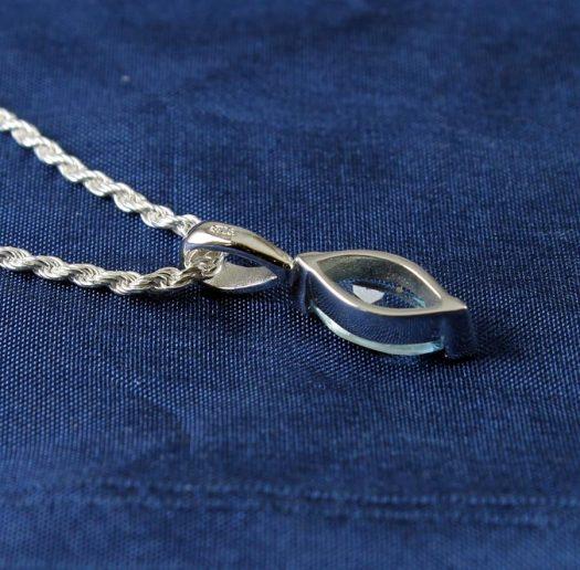 Blue Topaz Solitaire N-0274-h
