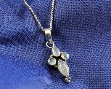 Moonstone Floral Cross