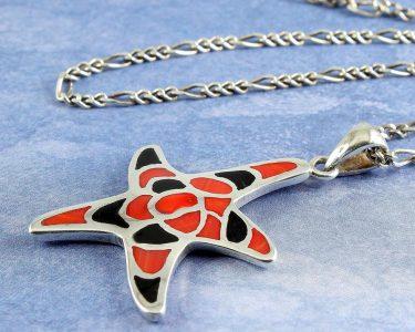 Starfish Mosaic Pendant N-0196-a