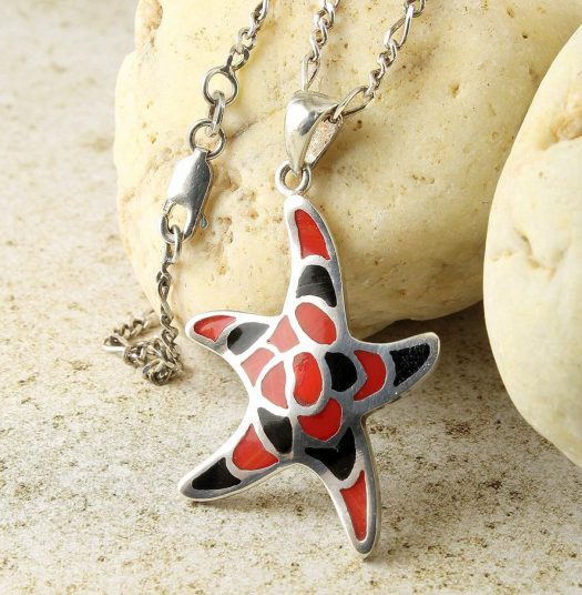 Starfish Mosaic Pendant N-0196-b