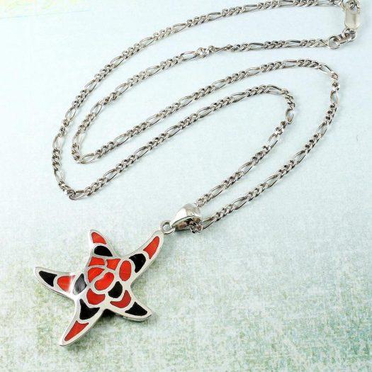 Starfish Mosaic Pendant N-0196-c