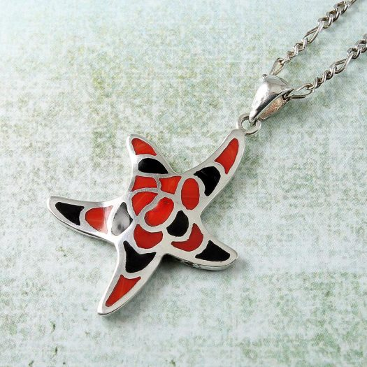 Starfish Mosaic Pendant N-0196-d