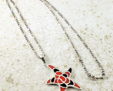 Starfish Mosaic Pendant N-0196-e