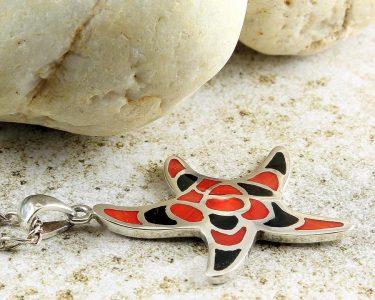 Starfish Mosaic Pendant N-0196-f