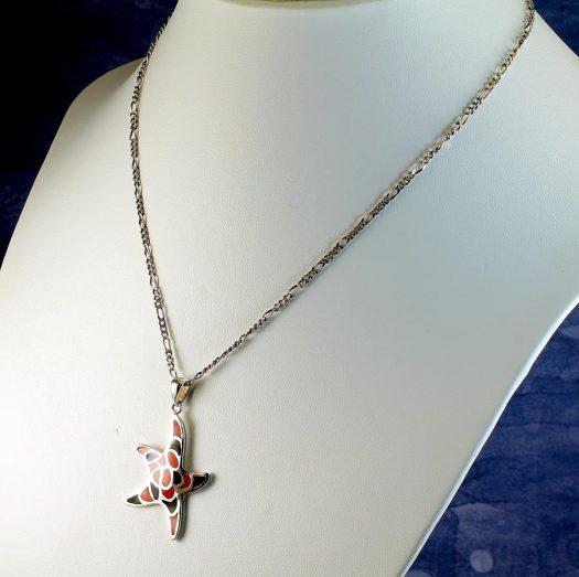 Starfish Mosaic Pendant N-0196-g