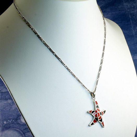 Starfish Mosaic Pendant N-0196-h