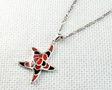 Starfish Mosaic Pendant N-0196-i