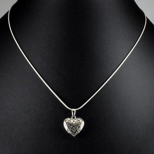 Filigree Openwork Heart Pendant N-0273-e