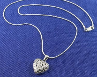 Filigree Openwork Heart Pendant N-0273-g