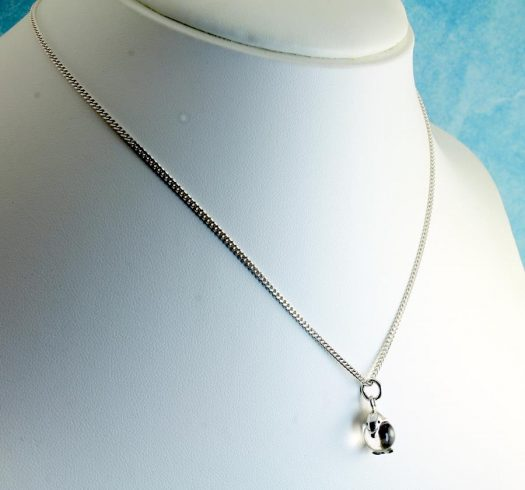 Silver Dolphin Ball Pendant N-0231-i