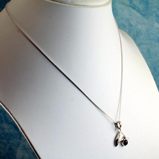Amethyst Dolphin Pendant N-0193-a