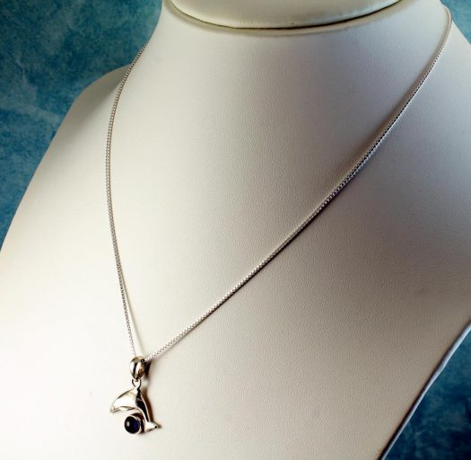 Amethyst Dolphin Pendant N-0193-k