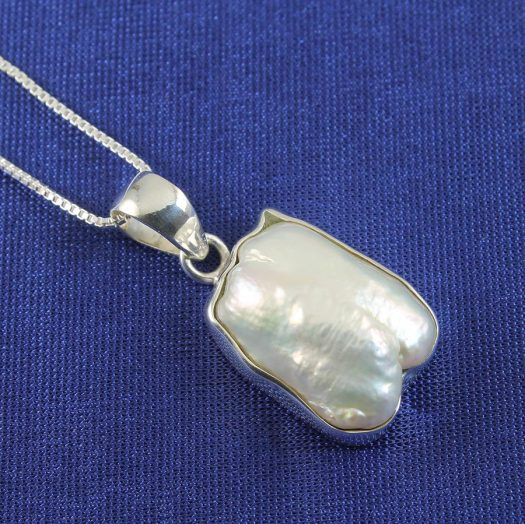 Biwa Pearl Pendant N-0117-b