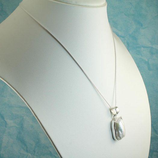 Biwa Pearl Pendant N-0117-i