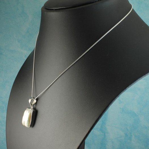 Biwa Pearl Pendant N-0117-j