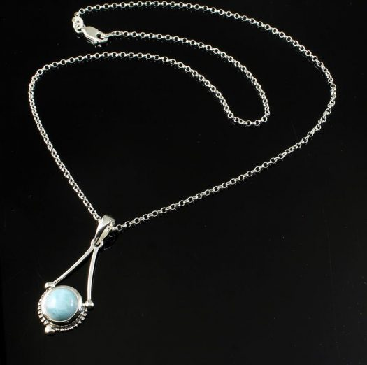 Blue Larimar Chandelier Pendant N-0129-c