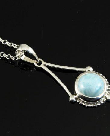 Blue Larimar Chandelier Pendant N-0129-h