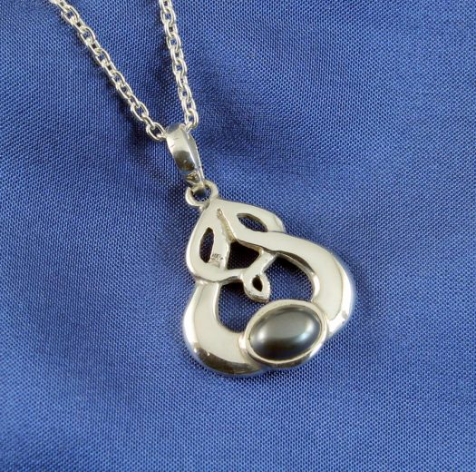 Hematite Silver Celtic Knot N-0237-b