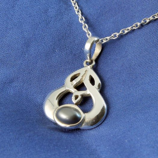 Hematite Silver Celtic Knot N-0237-f