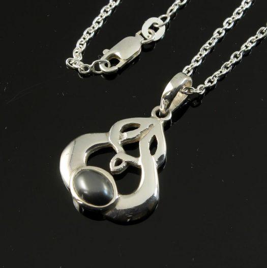 Hematite Silver Celtic Knot N-0237-k