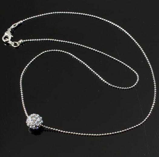 Mirror Ball Silver Rhinestone N-0210-a