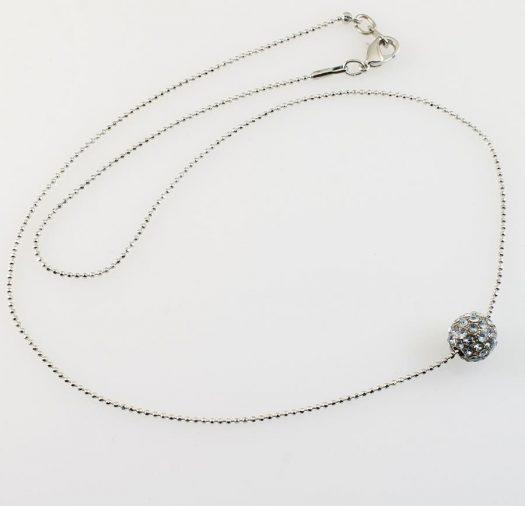 Mirror Ball Silver Rhinestone N-0210-b
