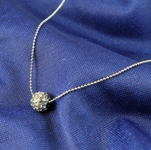Mirror Ball Silver Rhinestone N-0210-c