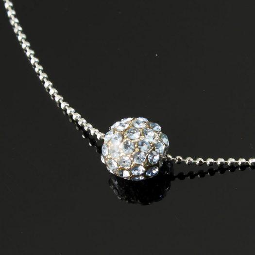 Mirror Ball Silver Rhinestone N-0210-g