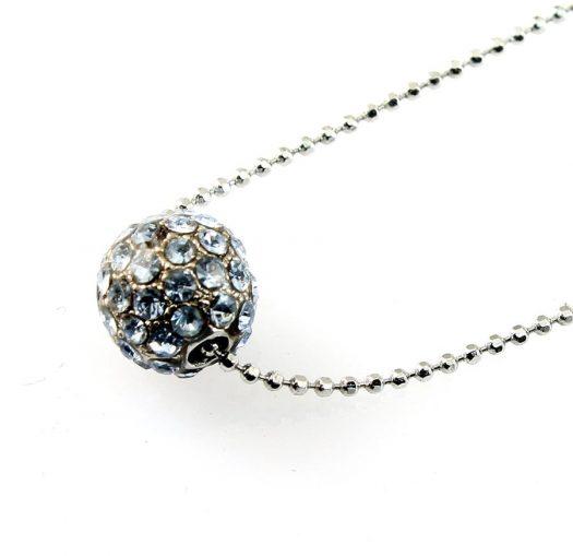 Mirror Ball Silver Rhinestone N-0210-h