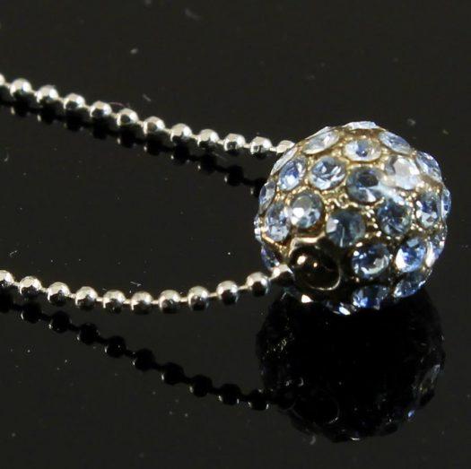 Mirror Ball Silver Rhinestone N-0210-l