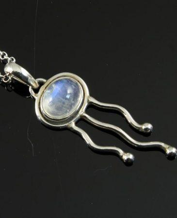 Moonstone Jellyfish Pendant N-0220-b
