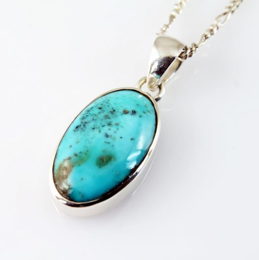 Turquoise Oval Pendant N-0152-a