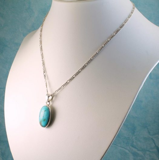 Turquoise Oval Pendant N-0152-d