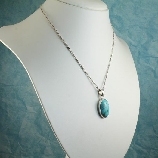 Turquoise Oval Pendant N-0152-f