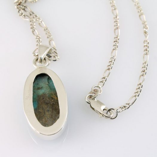 Turquoise Oval Pendant N-0152-l
