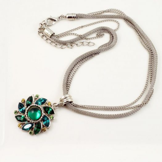 Emerald Green Rhinestone Necklace N-0103-f