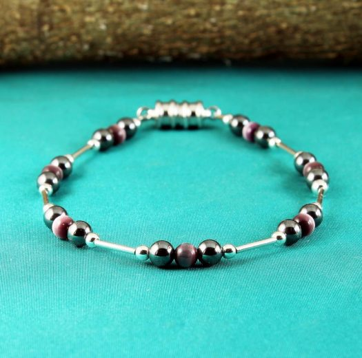 Hematite Cat's Eye Bracelet B-0102-a