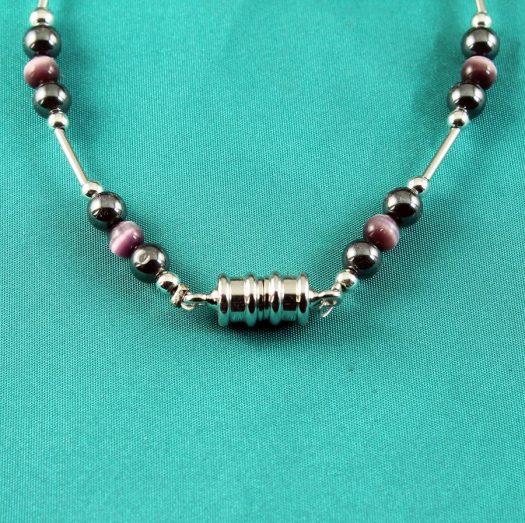 Hematite Cat's Eye Bracelet B-0102-b