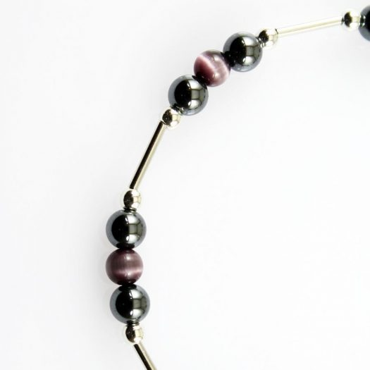 Hematite Cat's Eye Bracelet B-0102-f