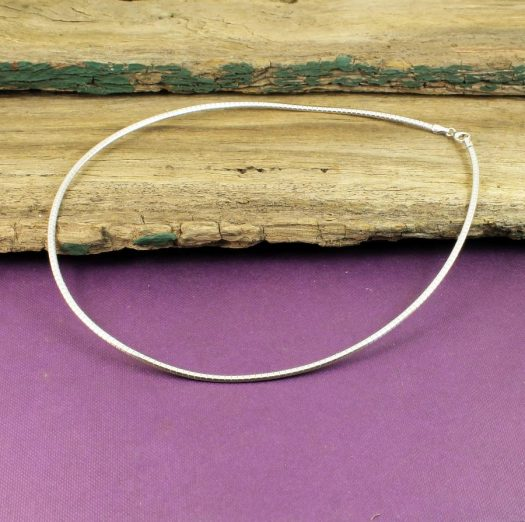 Sterling Silver Neck Ring N-0186-j