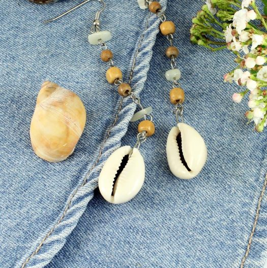 Cowrie Shell Earrings E-0114-e