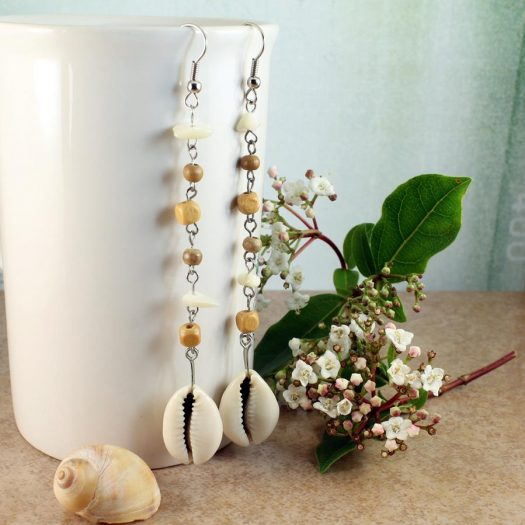Cowrie Shell Earrings E-0114-f