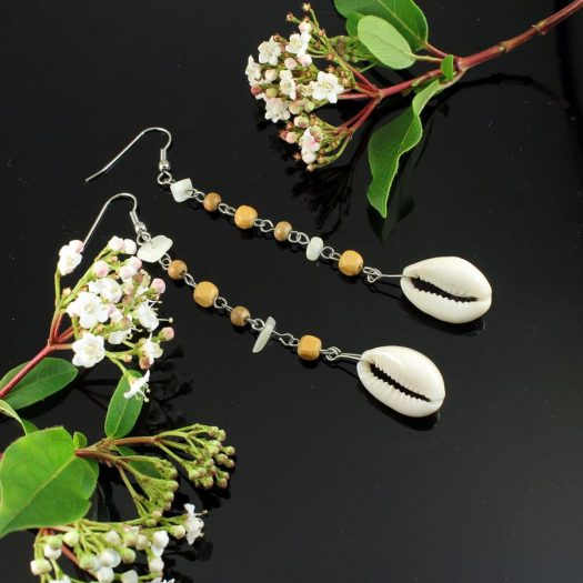 Cowrie Shell Earrings E-0114-h