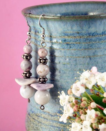 Crazy Lace Agate Earrings E-0121-a