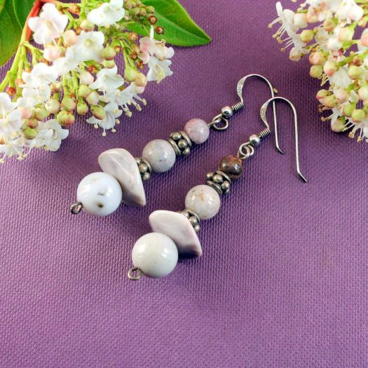 Crazy Lace Agate Earrings E-0121-b