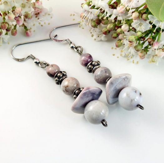 Crazy Lace Agate Earrings E-0121-c