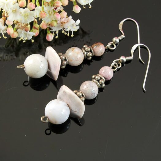 Crazy Lace Agate Earrings E-0121-d