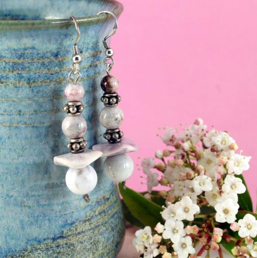 Crazy Lace Agate Earrings E-0121-e