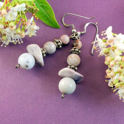 Crazy Lace Agate Earrings E-0121-f